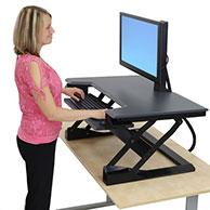 Ergotron Workfit-T Sit/Stand Desktop Workstation