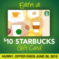 Earn A Free Starbucks Gift Card Today!