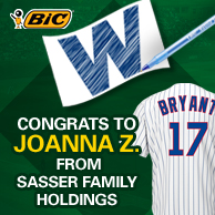 BIC Kris Bryant Jersey Winner Announced