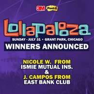 Lollapalooza Tickets: Winners Announced