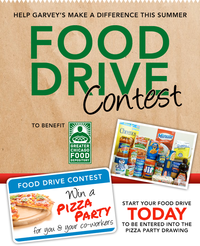 Food Drive Contest | Garvey's Office Products