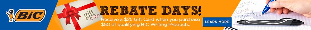 BIC Gift Card Rebate Offer