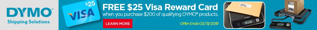 DYMO Visa Gift Card Rebate Offer