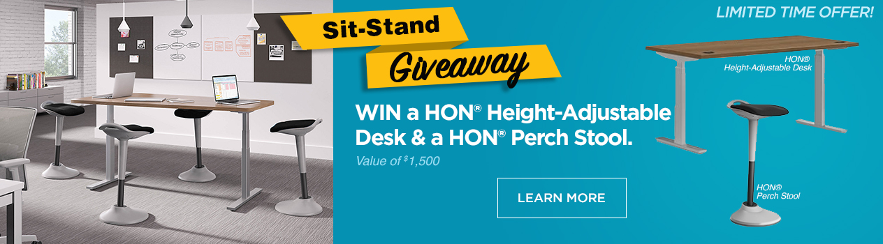 HON Sit-Stand Giveaway
