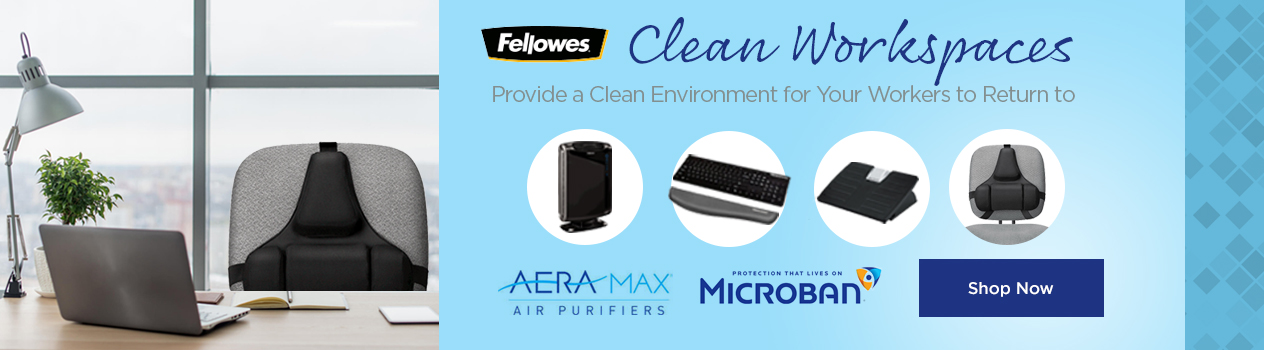 Fellowes Air Purifier and Microban Antimicrobial Products