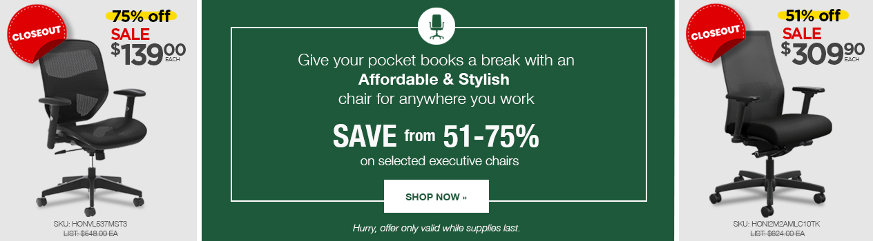 Hon Chairs Closeout Sale