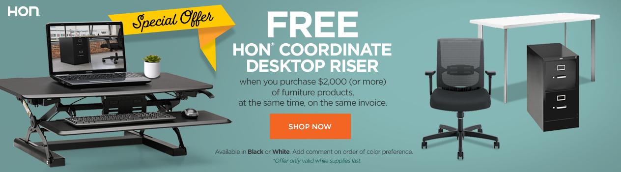 HON Desktop Riser Offer