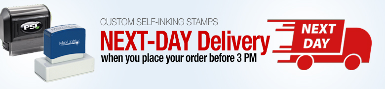 Next-Day Custom Stamps